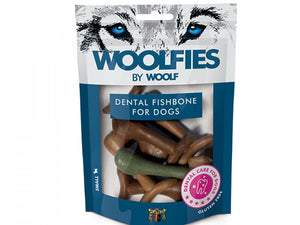 Woolfies Dental Fishbone Small 200g - Totteland.dk