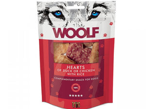 Woolf Hearts of Duck or Chicken with Rice 100g - Totteland.dk