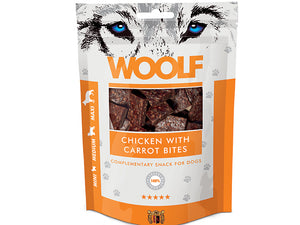 Woolf Chicken with Carrots Bites 100g - Totteland.dk