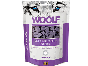 Woolf Soft Blueberry Strips 100g - Totteland.dk