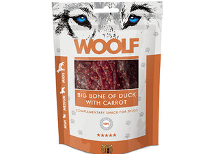 Woolf Big Bone of Duck with Carrot 100g - Totteland.dk