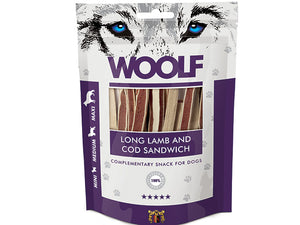 Woolf Long Lamb and Cod Sandwich 100g - Totteland.dk