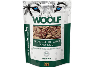 Woolf Lamb & Cod Triangle 100g - Totteland.dk