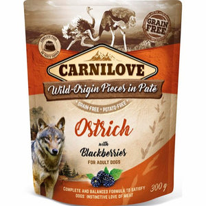 Carnilove Pouch Pate Ostrich with Blackberries 300 g