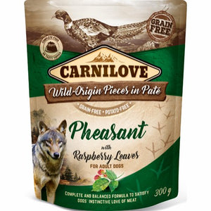 Carnilove Pouch Pate Pheasant with Raspberry Leaves 300 g