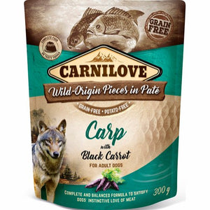 carnilove pouch pate carp with black carrot 300 g