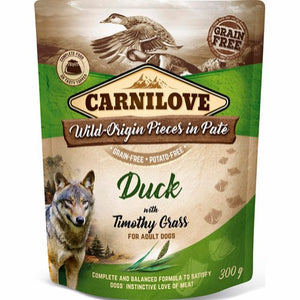 Carnilove Pouch Pate Duck with Timothy Grass 300 g