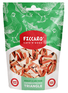 Ficcaro Chicken & pollock triangle, 100g
