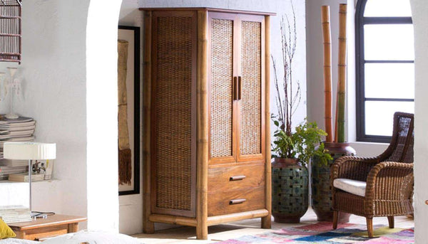 kolonial schrank kolonialschrank tropicana natur honigantik. Black Bedroom Furniture Sets. Home Design Ideas