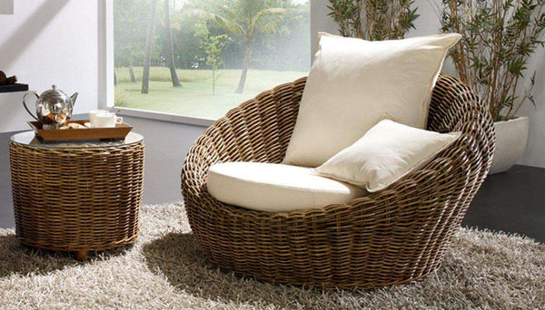 rattan couchtisch beistelltisch rund syracusa. Black Bedroom Furniture Sets. Home Design Ideas