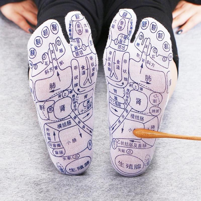 Acupoints Illustration Foot Massage Socks