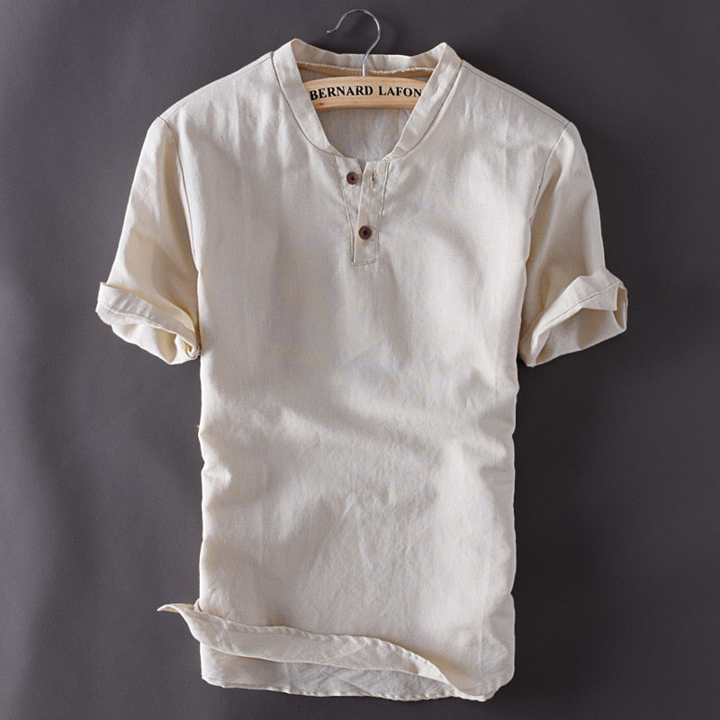 Short Sleeve Summer Breathable Mens Quality Casual Shirts