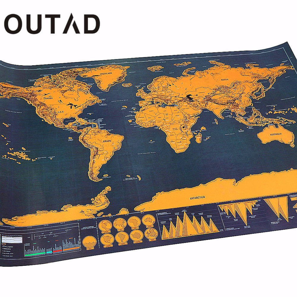 Traveler Vacation Log Gift Personalized Foil Layer Coating World Map