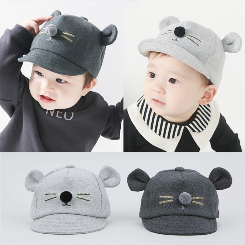 Cartoon Cat Design Baby Hat Baseball Cap
