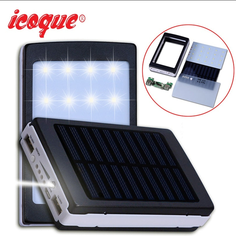 Icoque 18650 Solar Power Bank