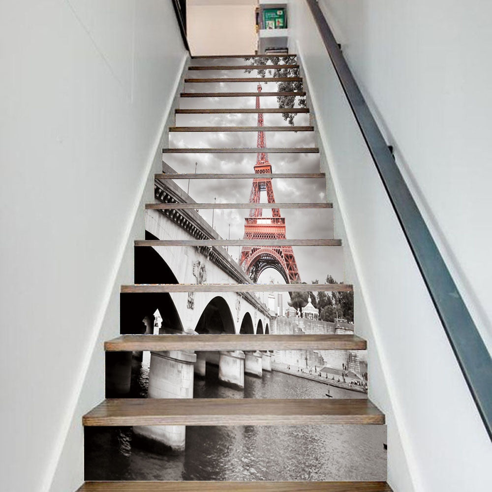 City Tower Stairway 3D Stickers