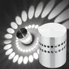 Super Cool/Warm White Spiral Hole Wall Lamp