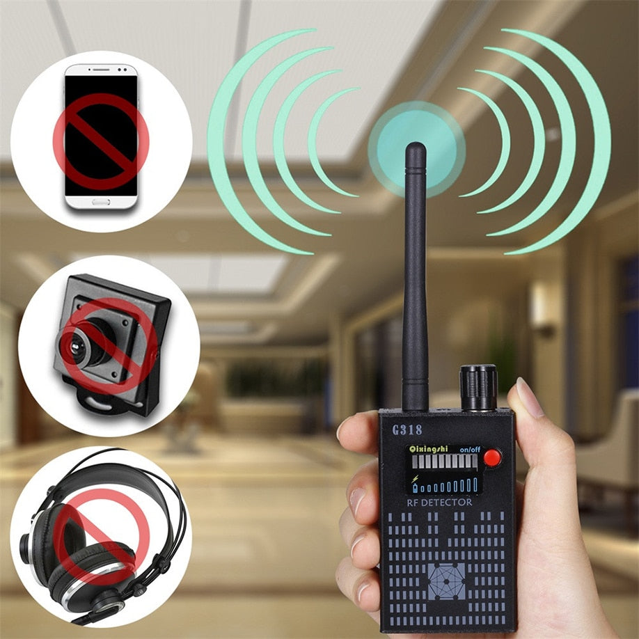 Detect Mobile Anti-Spy wireless Amplification Detector  - GPS High-speed 1MHz-8000MHz (Hidden Signal Detector)