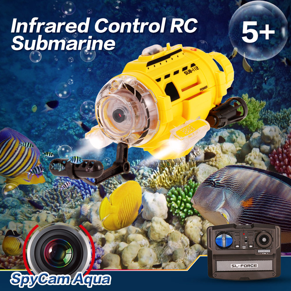 RC Submarine with Camera & LED Light