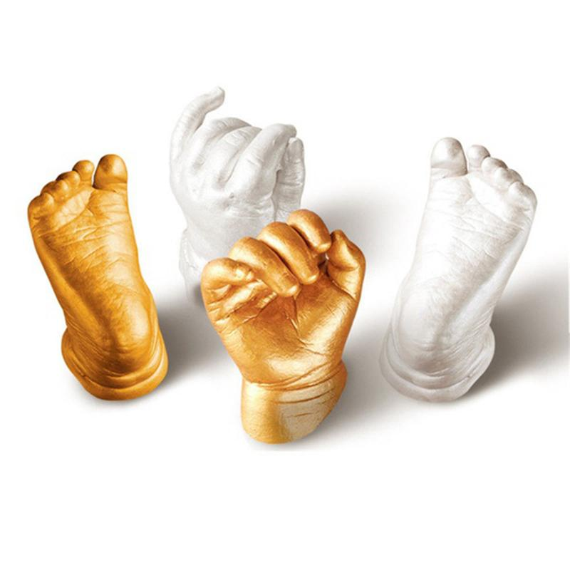 Baby 3D Hand & Foot Print mold powder Plaster Casting Kit