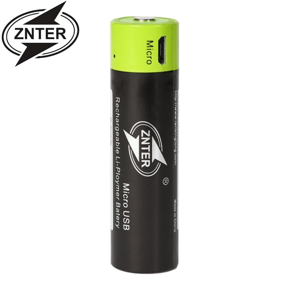 Micro USB Rechargeable AA Battery 3.7 V 1500MAH