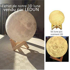 Rechargeable LED Moon Lamp
