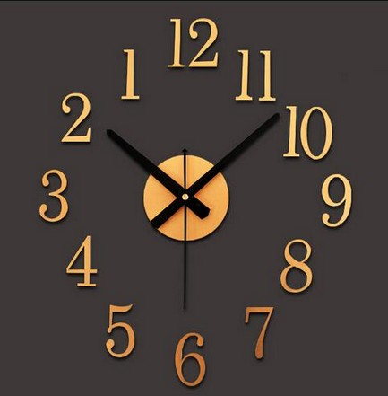 Creative Counter Clock Wise 3D Wall Clock