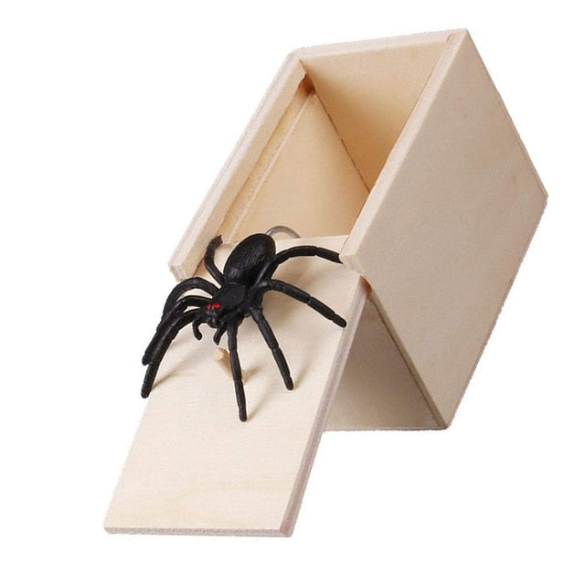 Wooden Prank Spider Scare Box Case