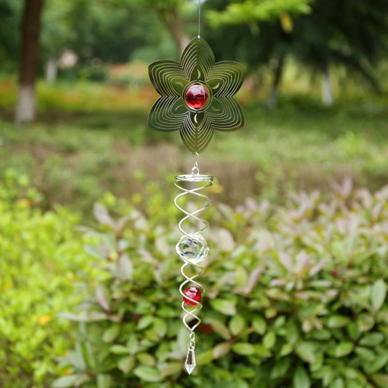 Metal Hanging Wind Spinner