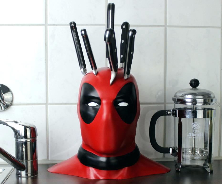 Knife Block Knives Holder Marvel Deadpool