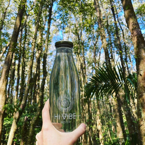 Hi Vibe Glass Water Bottles - White