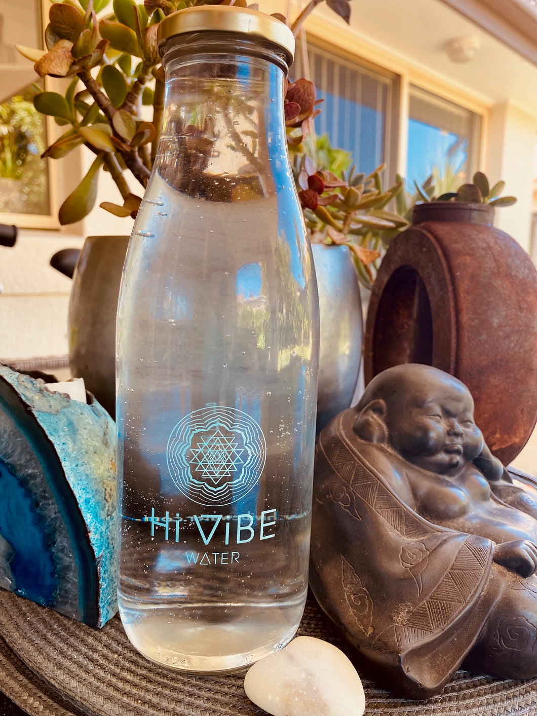Hi Vibe Glass Water Bottle - Teal