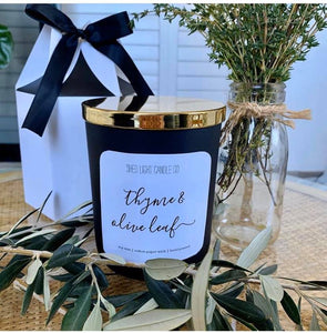 Shed Light Candle Co - Black with Gold lid