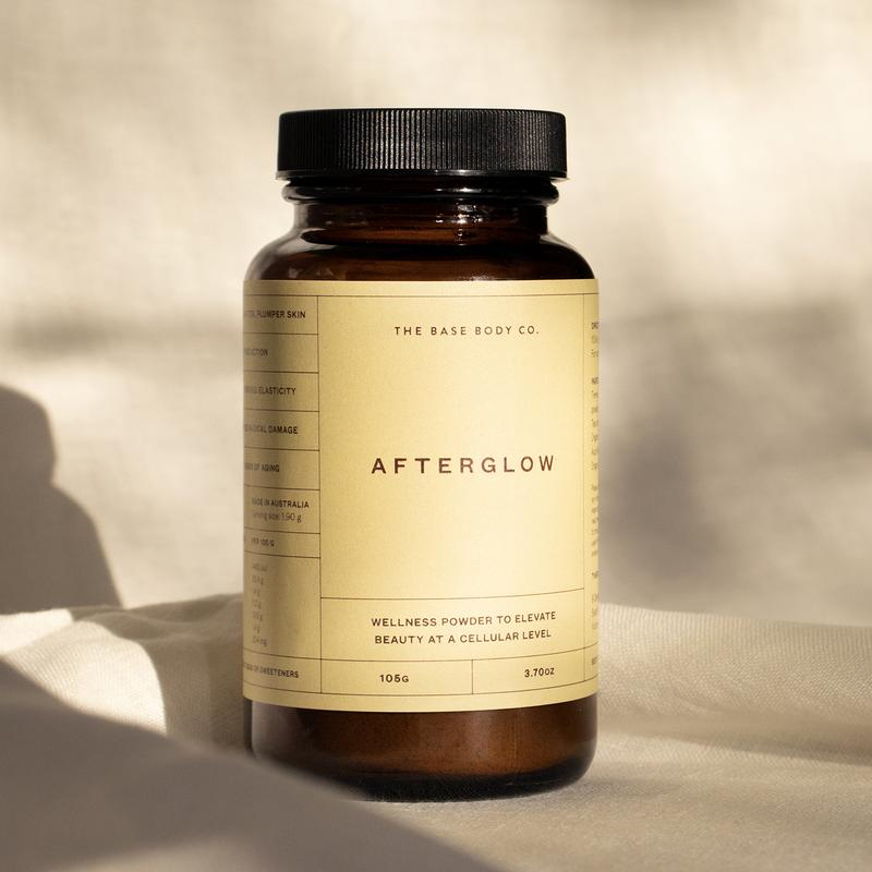 image showing bottle of afterglow  wellness powder to elevate beauty