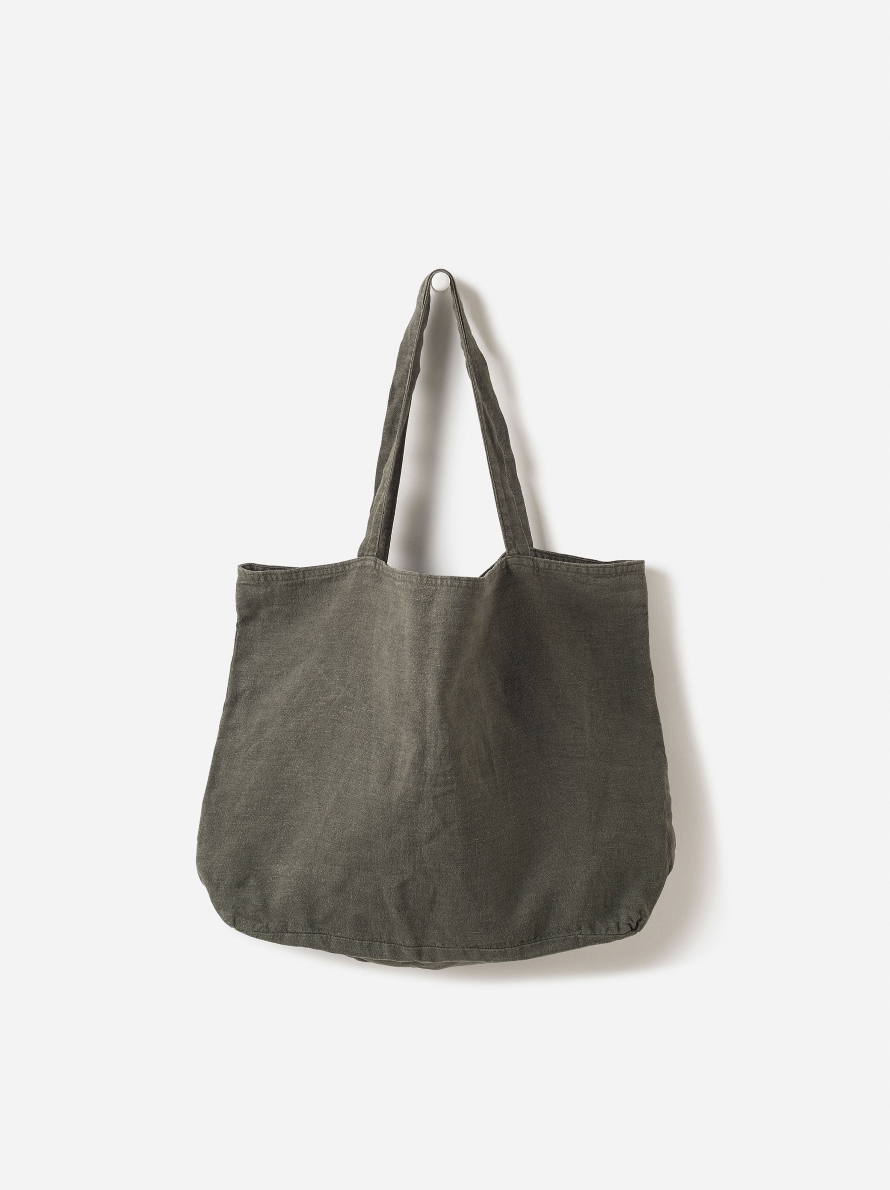 Washed Linen Bag Nori