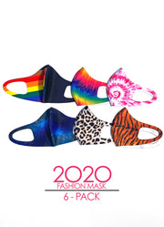 """2020"" 6-Pack Fashion Mask"