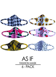 AS IF 6-Pack Fashion Mask