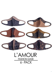 L'AMOUR 6-Pack Fashion Mask