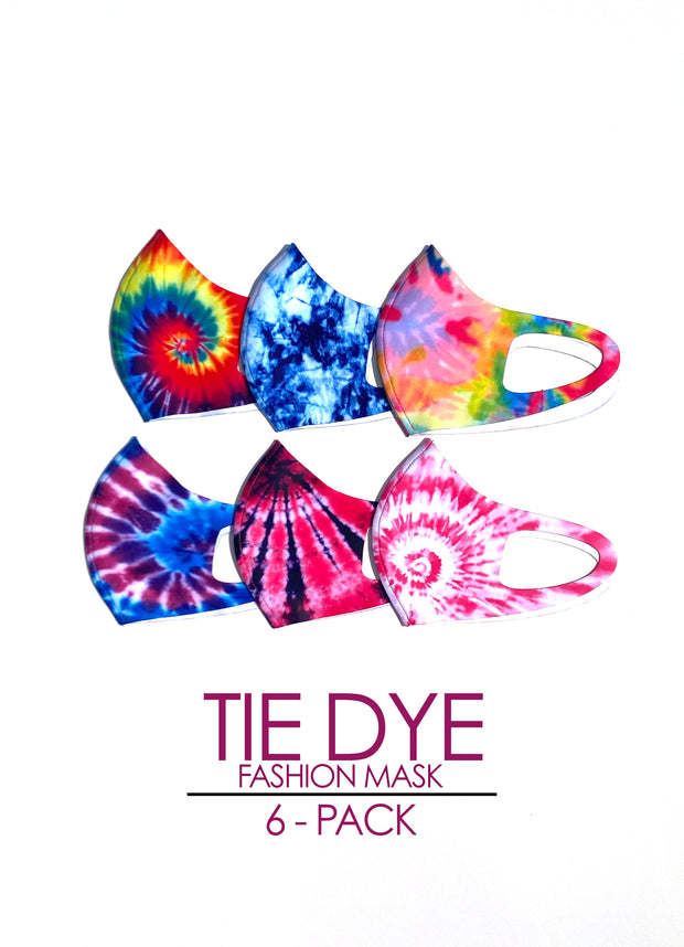 TIE-DYE 6-Pack Fashion Mask
