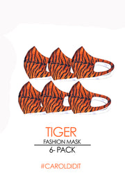 TIGER 6-Pack Fashion Mask