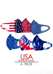 USA 6-Pack Fashion Mask