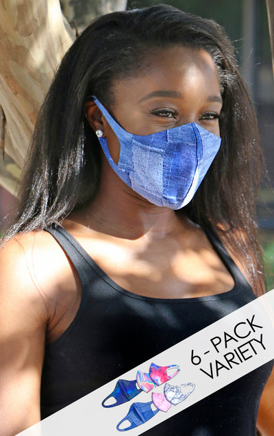 VIBES 6-Pack Fashion Mask