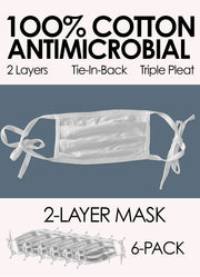 2-LAYER ANTIMICROBIAL MASK 6-PACK