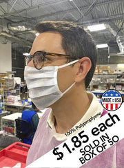 AMERICAN MADE PPE DISPOSABLE MASK - BOX OF 50