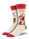 CLASSIC COKE SANTA Men's sock