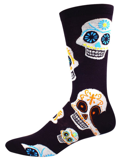Big Muertos (sugar skull) Skull Men's sock