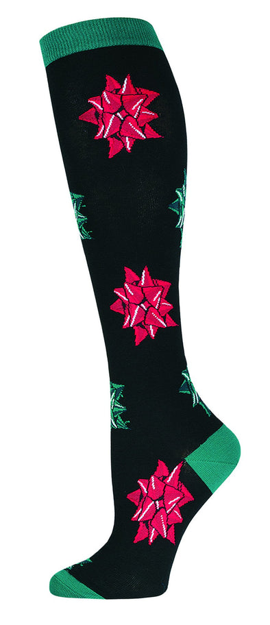 CHRISTMAS BOWS Women Knee High Sock