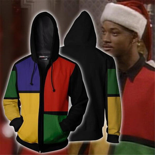 The Fresh Prince of Bel-Air 3D Polyester Sweater Zip Hoodie - daninetyflyclothing