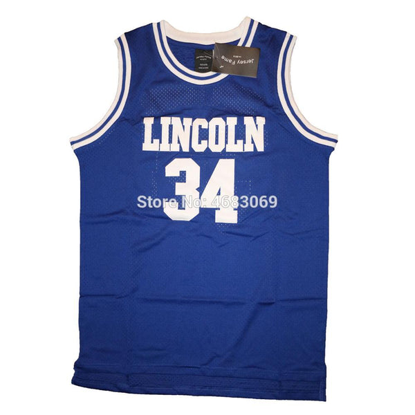 "Jesus Shuttlesworth #34 ""He Got Game"" Lincoln High Throwback Jersey - daninetyflyclothing"