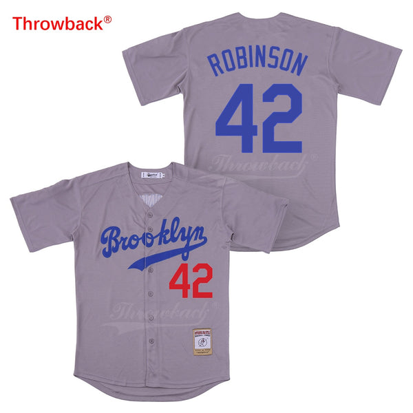 Jackie Robinson Brooklyn Dodgers Throwback Jersey - daninetyflyclothing